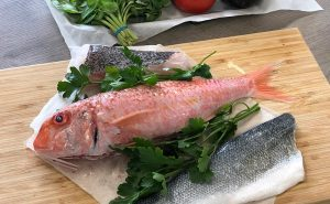 image of red snapper fish for cookery classes manchester