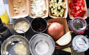 image of ingredients for Sri Lanksn cookeyr classes at cookery school in Manchester