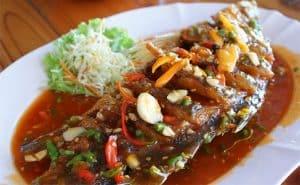 image of crispy Thai fish cookery bby Chrochaba Harper at Food Sorcery