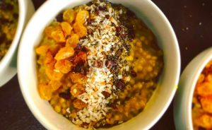 "Buckwheat ""Rice""Pudding with Lime, Coconut and Turmeric Vegan Recipe"