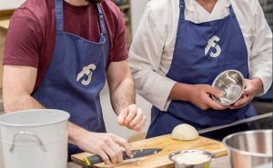 image of cooking togehter manchester inspired menu at the cookery school