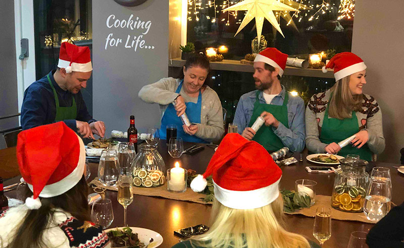 image of Christms Party at the cookery school Manchester