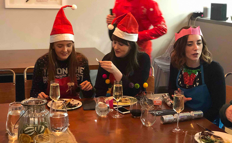 image of Christmas party at the cookery school