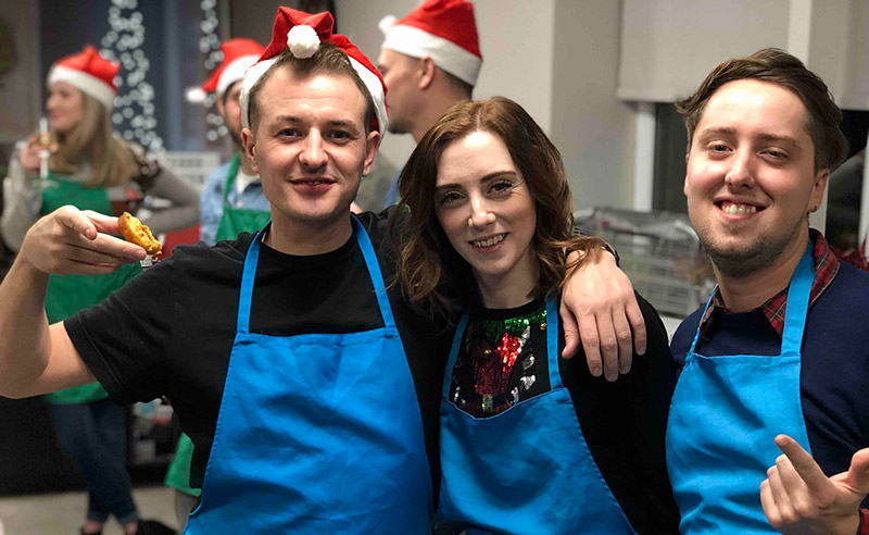 image of christmas party at the cookery school manchester