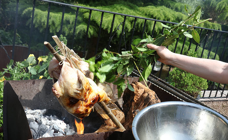 image of BBQ cookery class spatchcock chicken Manchester