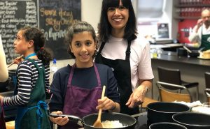 image of parent and child cookery classes in Didsbuy Manchester at the kitchen near Cheshire