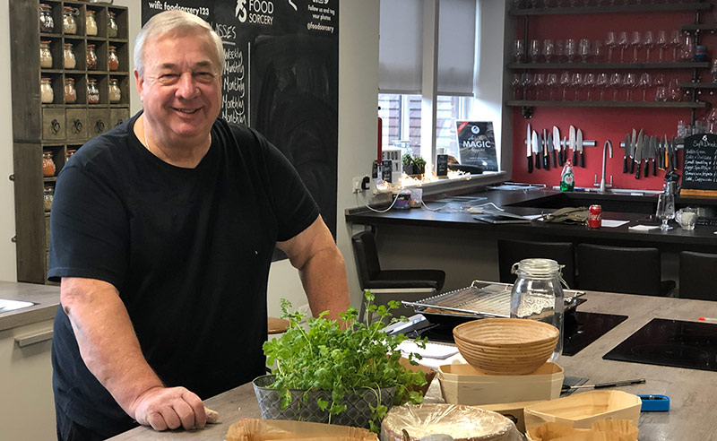 image of Dave sourdough masterclass at the cookery school Manchester