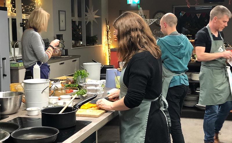 fit food healthy eating image of customers cooking at food sorcery