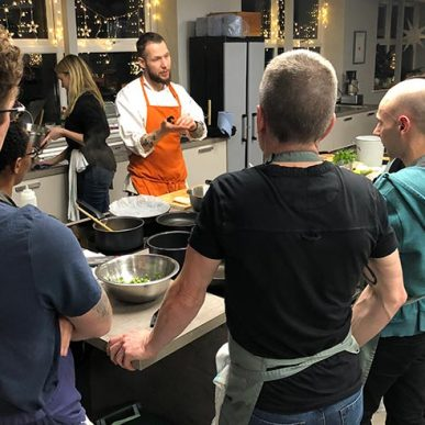 image of class cooking at food sorcery manchester