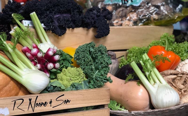 image of vegetables buy local at R Noones