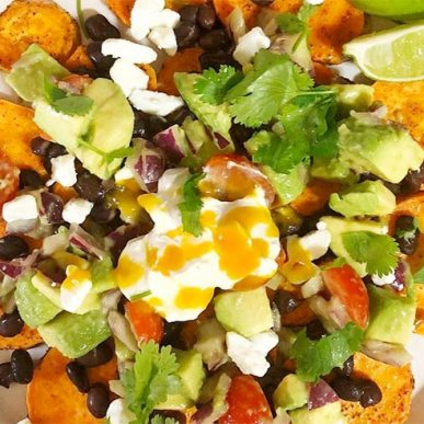 iamge of sweet potatoe nachos fit food cookery class