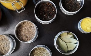 images of spices in pots at the cookery school manchester near wilmslow cheshire