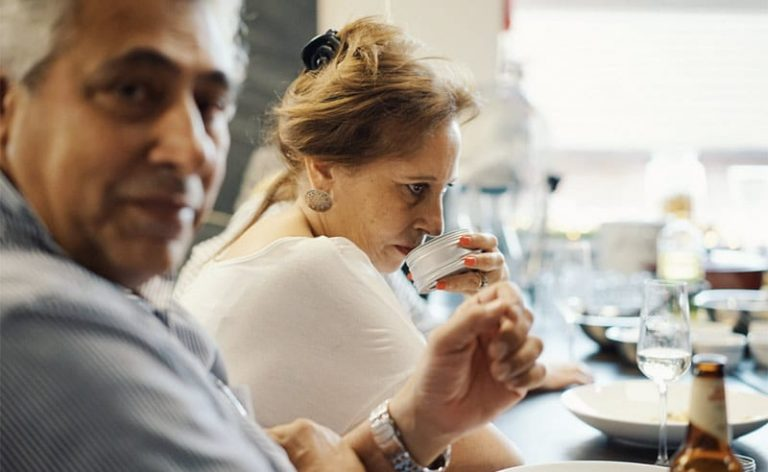 image of smelling roast spices at the cooking school manchester