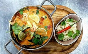 image of tom yam Thai food at the cookery school