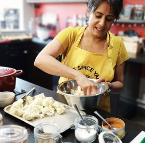 image of nina from the spice yard at the cookery school Didsbury
