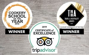image of logos of winners of cookery school of the year