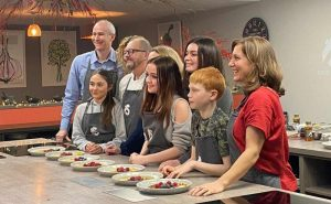 image of cookery class guests at food sorcery for BBC breakfast