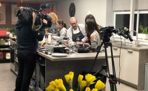 image of BBC breakfast filming at Food Sorcery