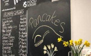 image of black borad at foodsorcery pancakes perfect