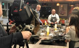 image of filming at food sorcery for BBC