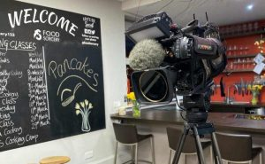 image of filming at food sorcery for BBC Breakfast