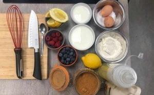 image of ingredients for panckes