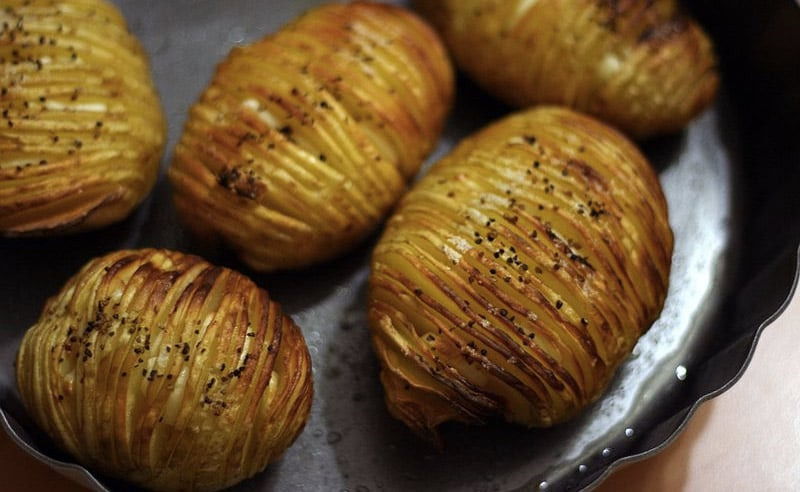image of hassel back potatoes cooking