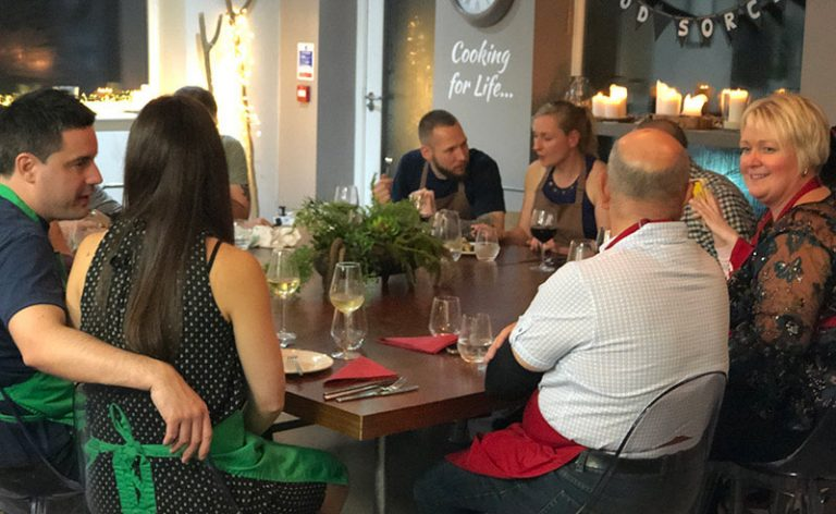 image of cooking together dining experience
