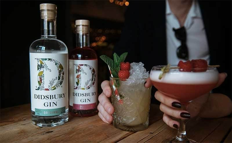 image fo didsbury gin at the cookery school Manchester