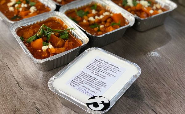 image of prepared meals at the cookery school Manchester