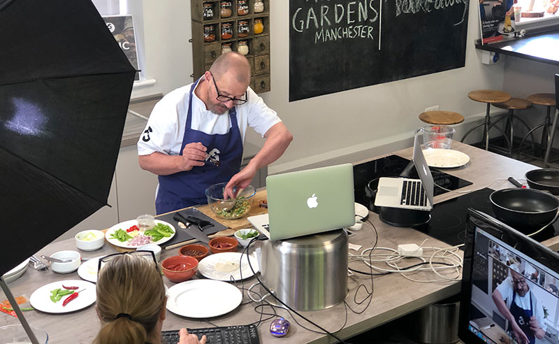 image of online cookery class manchester zoom