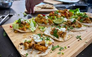 Read more about the article Big & Little Mexican –  Elote Corn; Crispy Chicken Tacos; Banana Split;