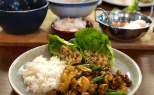 Read more about the article Thai Cooking Together – Larb Gai, Chilli Chicken Basil, lemongrass posset.