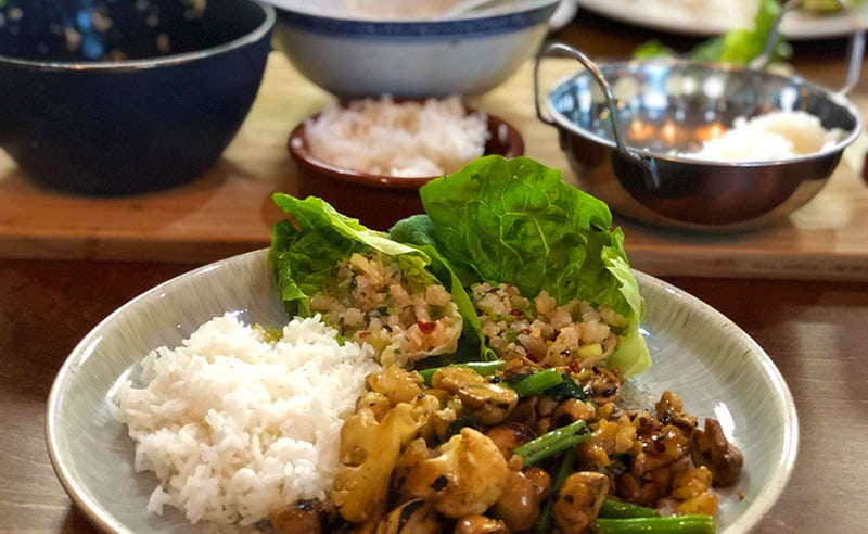 You are currently viewing Thai Cooking Together – Larb Gai, Chilli Chicken Basil, lemongrass posset.