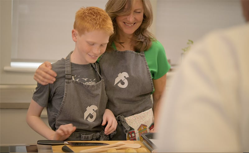 image of Big and little cooks at the cookery school things to do parent and child Manchester