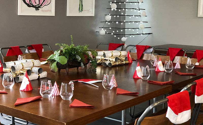 image of Chrismas cooking together party at the cookery school