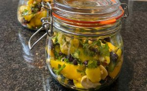 image of jar of mango chutney made at the cookery school