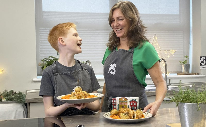 image of parent and child cookery class at the cookery school manchester