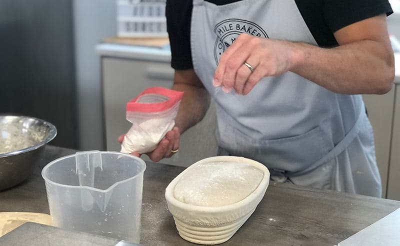 image of Sourdough making class learn to bake at the cookery school