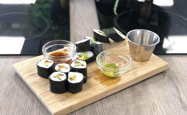 Big & Little Cooks – Japanese: Katsu Chicken; Vegetable & Cream Cheese Sushi; Banana Split;