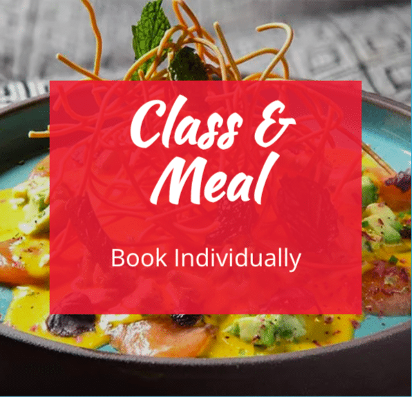 image of cookery class and meal great as a gift voucher