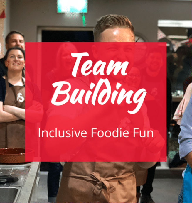 image of image of team building foodie fun at the cookery school manchester