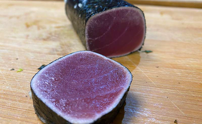 image of sashimi grade tuna ready to learn to make tuna tataki
